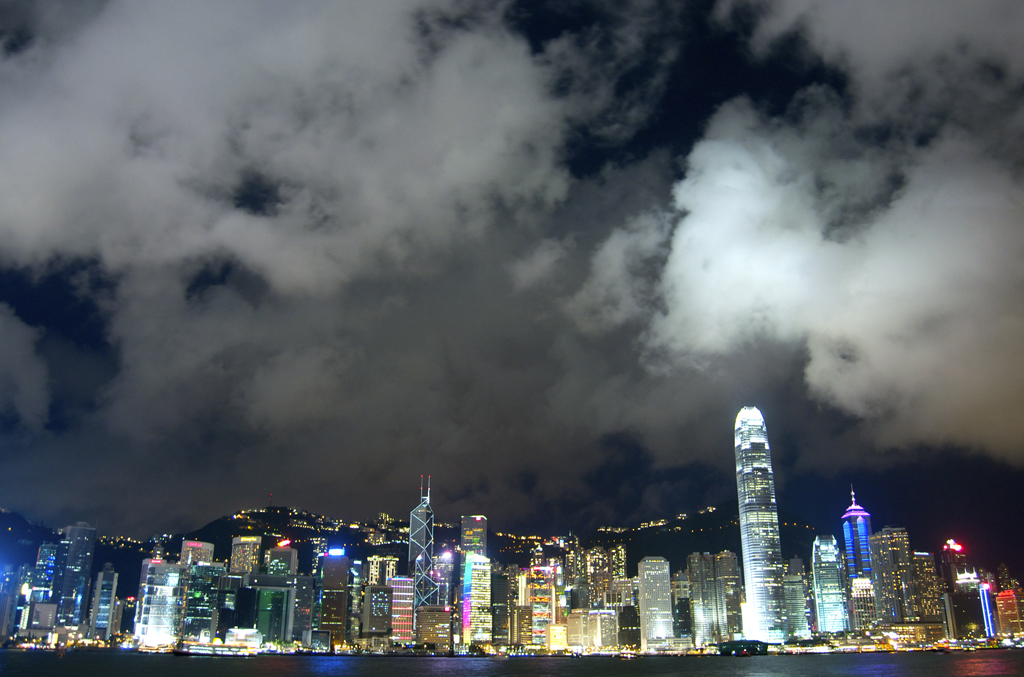 Clouds over Hong Kong Island. 2012