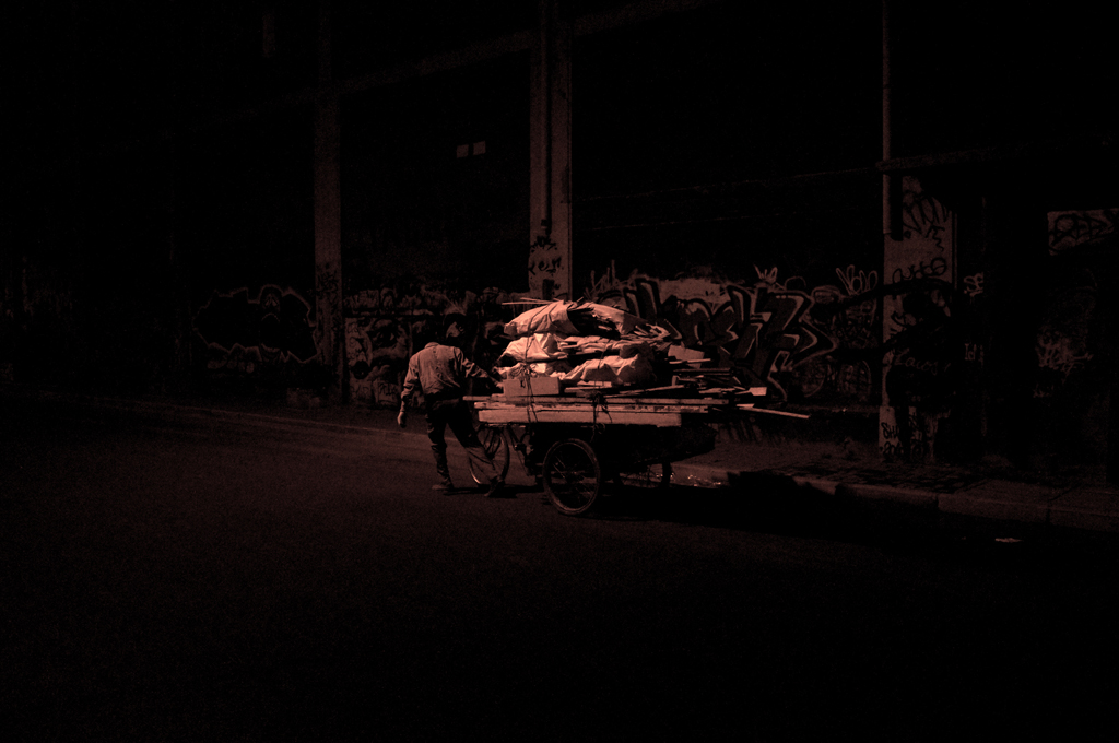 mark pricey street photography - title: Night workers